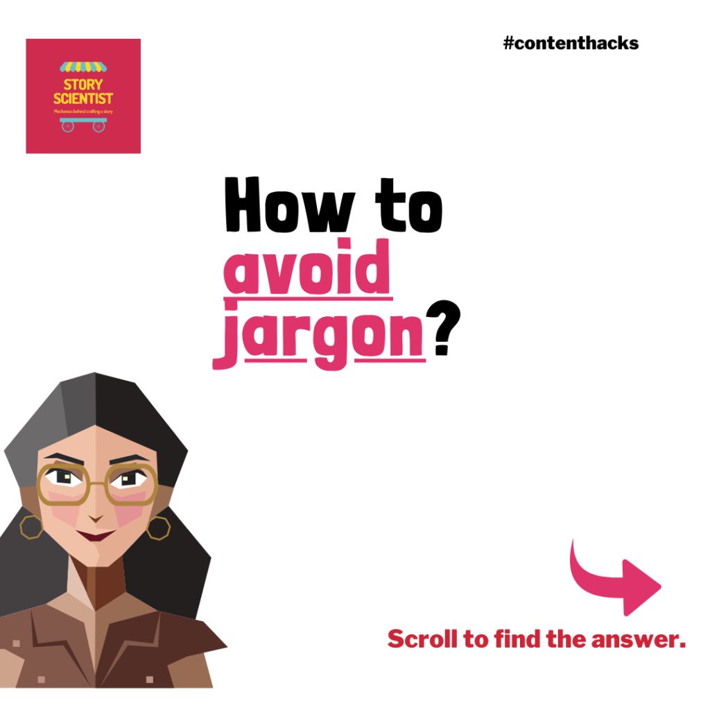 How to avoid jargon - Story Scientist